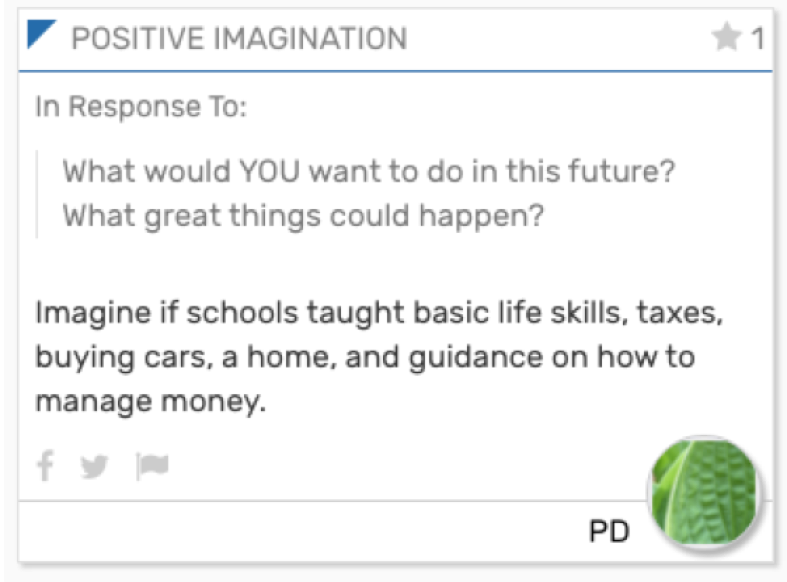 Imagine if schools taught basic life skills, taxes, buying cars, a home, and guidance on how to manage money.