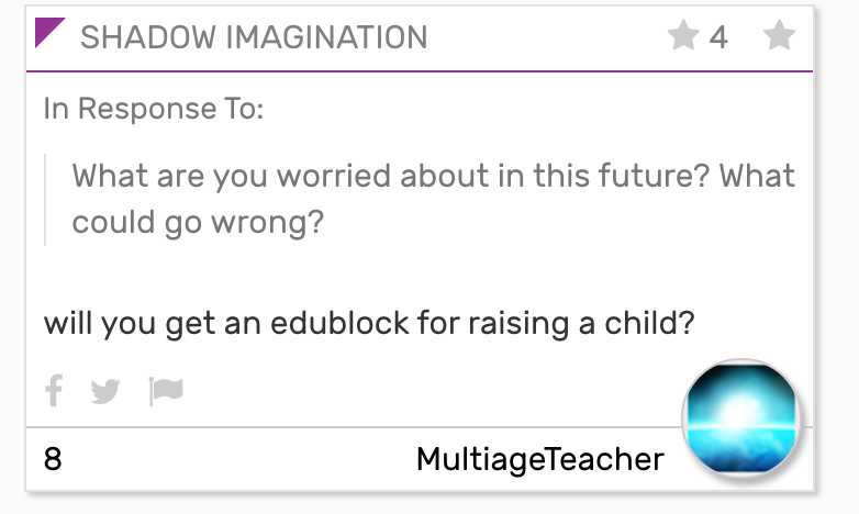 will you get an edublock for raising a child?